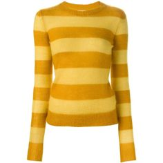 Isabel Marant Étoile 'Gresham' sweater (£146) ❤ liked on Polyvore featuring tops, sweaters, long sleeve sweaters, ribbed sweater, etoile isabel marant sweater, ribbed top and yellow top