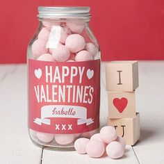 Mason Jars add a personalised touch to sweeties and make a great gift for any… Sweets Online, Sweet Ideas, Personalized Labels, Buisness, Homemade Gifts, Valentine Day Gifts, Fathers Day, Mothers, Mason Jars