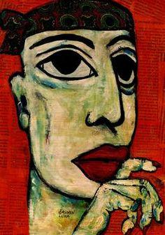 "Saatchi Art Artist CARMEN LUNA; Painting, ""97-RETRATOS Expresionistas. Pirata"" #art http://www.saatchiart.com/art-collection/Painting-Assemblage-Collage/Expressionist-Portrait/71968/51263/view"