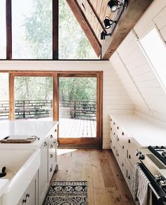dreamy cabin kitchen.