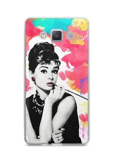 Capa Capinha Samsung A7 2015 Audrey Hepburn #5 - SmartCases - Acessórios para celulares e tablets :)