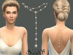 Back drop necklace with Swarovski crystals - gorgeous jewelry for special occasions.  Found in TSR Category 'Sims 4 Female Necklaces'
