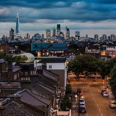 The View - The London skyline from high up above the streets. #london