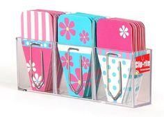 Clip-rite Clip-Tabs Small Daisy 12 Clip-Tabs per Color, Pink/Black (CRT-070) by Clip-rite, Clip-Tabs, http://www.amazon.com/dp/B008O2HS6A/ref=cm_sw_r_pi_dp_1gbxsb1PCVHX7