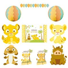 AWWWW Dress Your Baby Shower With The Adorable Decorations In The Lion King  Baby Decorating Kit