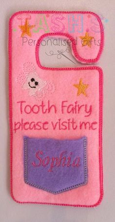 Personalised Tooth Fairy Door Hanger - Tash Bibs