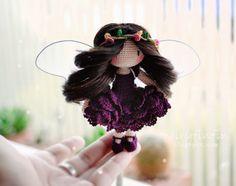 fairyfinfin: Cute Crochet Butterfly Fairy Girl doll, Cute Amigu...