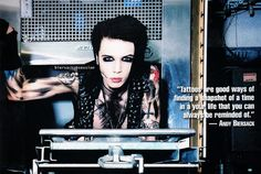 Andy talking about tats