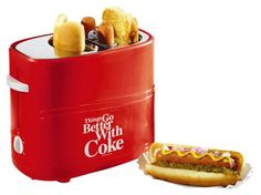 Nostalgia Electrics - Coca-Cola Series Pop-Up Hot Dog Toaster - Red, HDT600COKE