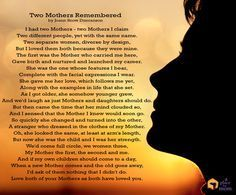 Two Mothers Remembered - a poem by Joann Snow Duncanson