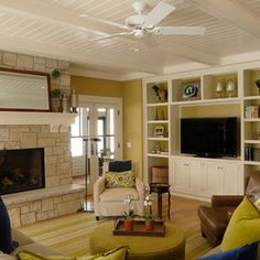 Farmhouse Living Room by Destree Design Architects, Inc.