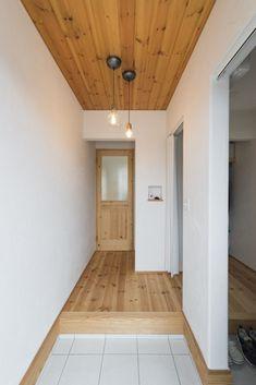 Wood Wallpaper, Wood Ceilings, Alcove, Tile Floor, Garage Doors, Bathtub, Flooring, Outdoor Decor, House