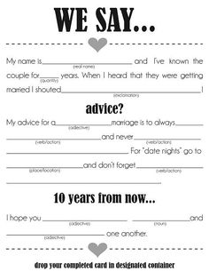 14 Free, Fun, and Printable Wedding Mad Libs: Feel like you're in a rut with your wedding planning?