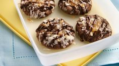 Turn a roll of sugar cookies into German chocolate treats you'll be proud to share.