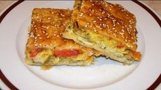 kotopita me susami Greek Recipes, Lasagna, French Toast, Sandwiches, Food And Drink, Low Carb, Cooking Recipes, Breakfast, Ethnic Recipes