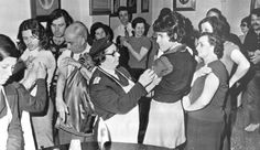 People line up to receive their smallpox vaccinations at the health center in Athens Greece  1972