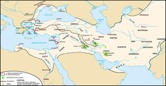 Map of the Persian Achaemenid Empire and the section of the Royal Road noted by Herodotus, c. 5th century BCE | The Persian Royal Road was an ancient highway reorganized and rebuilt by the Persian king Darius the Great (Darius I) of the Achaemenid Empire in the 5th century BC. Darius built the road to facilitate rapid communication throughout his empire.