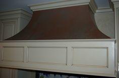 Faux aged copper range hood