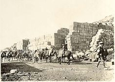 Supply Reserves & Indian Mule Transport at ANZAC Beach #Gallipoli Source: http://www.anzacday.gov.au/gallipoli_02/