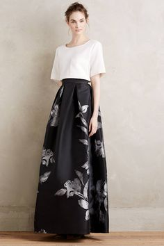 Etched Blooms Ball Skirt - anthropologie.com