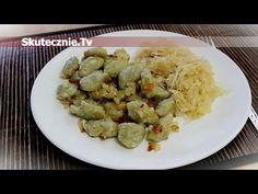 Szare kluski z kiszoną kapustą :: Skutecznie.Tv [HD] Gluten Free Recipes, Vegetarian Recipes, Polish Recipes, Polish Food, Dumplings, Potato Salad, Potatoes, Pizza, Dinner