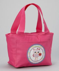 Another great find on #zulily! Hot Pink School Owl Personalized Tote by Preppy Mama #zulilyfinds