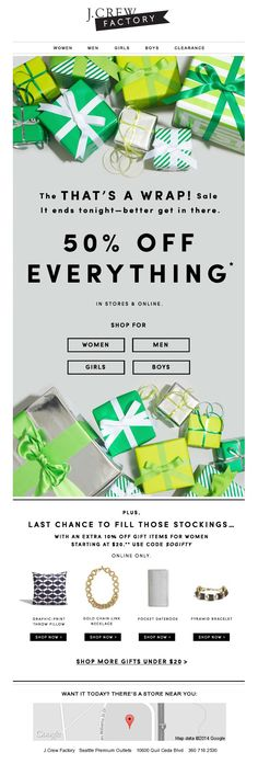 J.Crew That's A WrapHoliday Sale Newsletter Design