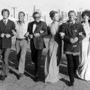 The Towering Inferno's all-star cast: Robert Wagner, Fred Astaire, Richard Chamberlain, Paul Newman, William Holden, Faye Dunaway, ...