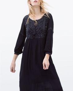 ZARA - WOMAN - EMBROIDERED LONG DRESS