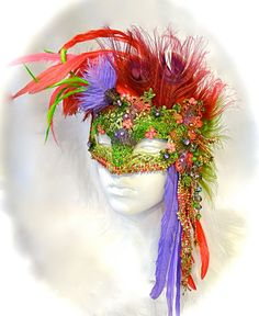 Shy's Decision Masquerade Ball Mask Venetian by Marcellefinery Baroque Fashion, Floral Fashion, Masquerade Party, Masquerade Masks, Harlequin Mask, Venitian Mask, Venice Mask, Beautiful Mask, Halloween Masks