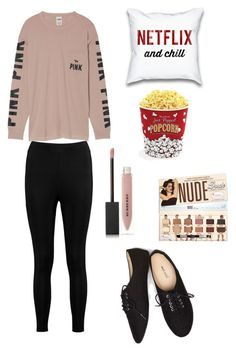 Netflix and Chill by curvalicious on Polyvore featuring Victoria's Secret, Boohoo, Wet Seal, Burberry, West Bend, cute, chic and netflix