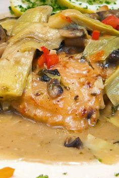 Skillet Chicken with Mushrooms and Artichokes Recipe - Gluten Free