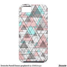 Dreiecke Pastell linear graphisch Tough iPhone 5 Hülle