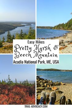 Most people spend their time on the east side of Acadia National Park. Beech Mountain and Pretty Marsh are great reasons to check out the west side! #acadianationalpark #maine #hiking #travel #nationalparks Costa Rica Travel, Cuba Travel, Mexico Travel, Us Travel Destinations, Places To Travel, Canada Travel, Travel Usa, Acadia National Park, National Parks