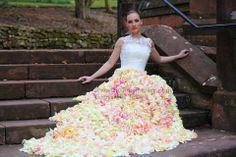 dress made of petals