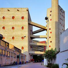 SESC Pompéia, São Paulo, SP.   Lina Bo Bardi.   ramps