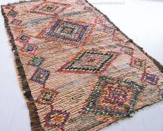 Morrocan rug Ourika 42 7'4 x 4'9 ft  Boucherouite by ElRamlaHamra