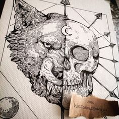 A tshirt commission in progress for Skin Deep Magazine