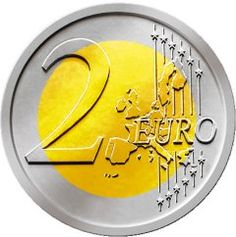 Two euro coin Piggy Bank Craft, Euro Coins, Coin Values, French Class, Preschool Lessons, Savings Plan, Coin Collecting, Finance Tips, Learn English