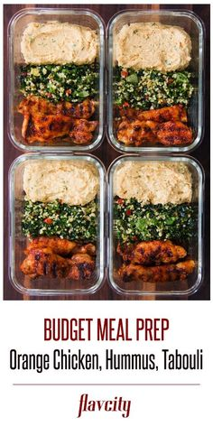 Spice Grilled Sour Orange Chicken (with hummus & tabouli salad) > FlavCity