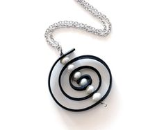 Upcycled inner tube spiral pendant. Large by LivelyLeafDesigns, $35.00