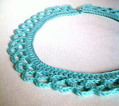 Spring doily collar