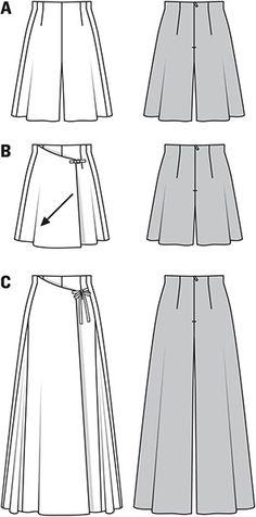 Simplicity Creative Group - Burda Style Pantskirts
