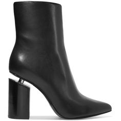 Alexander Wang Kirby leather ankle boots (€770) ❤ liked on Polyvore featuring shoes, boots, ankle booties, boots/booties, black boots, high heel booties, black bootie, leather ankle boots and leather bootie