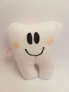 Items similar to Tooth fairy cushion / felt tooth pillow with back pocket and hanging ribbon loop on Etsy Crochet Crafts, Knit Crochet, Tooth Pillow, Cushions To Make, Fabric Gifts, Tooth Fairy, Gifts For Boys, Beautiful Things, Boy Or Girl