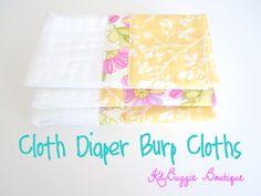 KdBuggie Boutique: Tutorial: Cloth Diaper Burp Cloths
