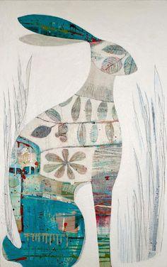 littlechien via   campsis  campsis:  TCK HARE - Acrylic on Canvas by TIFFANY CALDER KINGSTON
