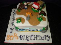 Builders birthday cake.
