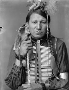 Amos Little, a Sioux Indian from Buffalo Bill's Wild West Show.  Photo by Gertrude Kasebier
