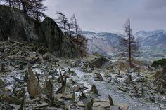 The bizarre standing stones at Summit Quarry, Castle Crag, Borrowdale. Lake District Walks, Lakes, Scenery, Castle, Stones, Bucket, Mountains, Photography, Outdoor